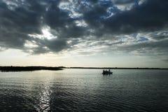 Sunrise fishing Royalty Free Stock Photo