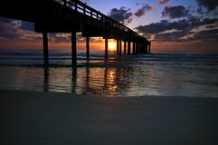 Sunrise at Fishing Pier Royalty Free Stock Image