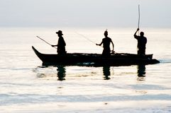 Sunrise fishing on Zanzibar Island Stock Image