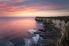 Sunrise at Flamborough Royalty Free Stock Image