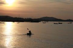 Sunrise. Floating boating seabreze Royalty Free Stock Photos