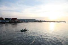 Sunrise. Floating boating seabreze Stock Photos