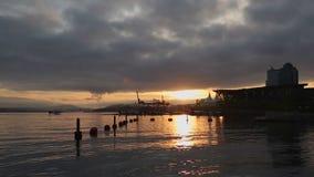 Sunrise Floatplane, Coal Harbor, Vancouver stock video
