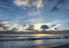 Sunrise at Florida Beach Stock Image