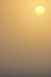 Sunrise in the fog Royalty Free Stock Photo