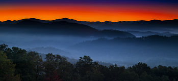 Sunrise at Foothills Overlook Royalty Free Stock Photos