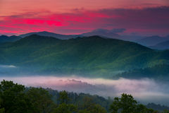 Sunrise at Foothills Parkway Overlook Royalty Free Stock Photo