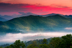 Sunrise at Foothills Parkway Overlook Royalty Free Stock Photos