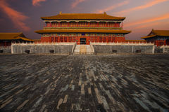 Sunrise Forbidden City Building Wet Floor Royalty Free Stock Photo