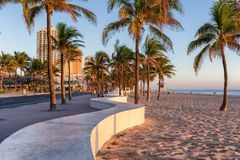 The beach at Fort Lauderdale in Florida on a beautiful sumer day Stock Photography