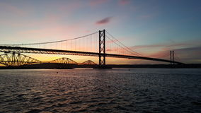 Sunrise on the forth Stock Images
