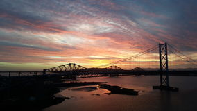 Sunrise on the forth Stock Photography