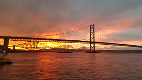 Sunrise on the forth Royalty Free Stock Photos