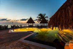 Sunrise at Four Seasons Resort Maldives at Kuda Huraa Royalty Free Stock Image