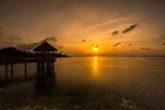 Sunrise at Four Seasons Resort Maldives at Kuda Huraa Royalty Free Stock Images