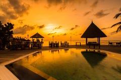 Sunrise at Four Seasons Resort Maldives at Kuda Huraa Stock Photography