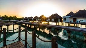 Sunrise at Four Seasons Resort Maldives at Kuda Huraa Stock Images