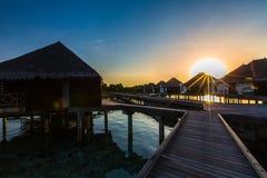 Sunrise at Four Seasons Resort Maldives at Kuda Huraa Stock Image