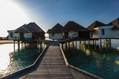 Sunrise at Four Seasons Resort Maldives at Kuda Huraa Stock Photos