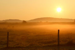 Sunrise in France Stock Photo