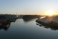 Sunrise on the Fraser River Stock Photos