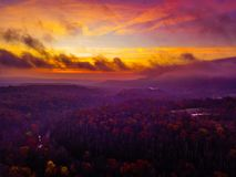 Free Sunrise From A Drone With Cloudy Skies Stock Image - 103689681
