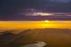 Sunrise from Fuji Stock Image
