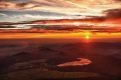 Sunrise at Fuji Royalty Free Stock Photos