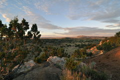 Sunrise Galisteo Mew Mexico Stock Photos
