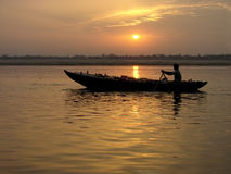 Sunrise on Ganges River Royalty Free Stock Photography