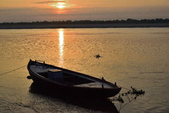 Sunrise on the Ganges Stock Image