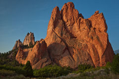 Sunrise at Garden of the Gods Stock Photography