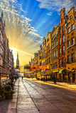 Sunrise in Gdansk, Poland. Royalty Free Stock Photos