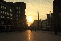 Sunrise in Gelsecnkirchen Royalty Free Stock Photo