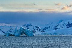 A Sunrise in Gerlache Strait Royalty Free Stock Photo