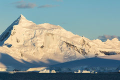 A Sunrise in Gerlache Strait Stock Photography