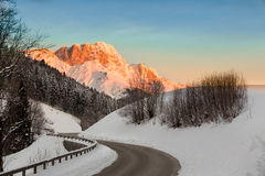Sunrise in Germany Alps, Berchtesgaden, Bavaria, Germany Stock Photos