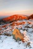 Sunrise in Giant mountains Stock Photos