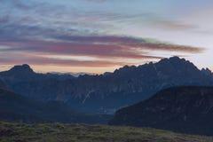 Sunrise from Giau pass, Dolomites, Veneto, Italy Stock Images