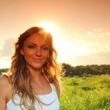 Sunrise girl Stock Photography