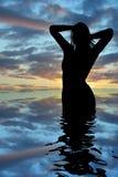 Sunrise girl Stock Photos