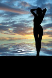 Sunrise girl. 3d abstract summer concept Royalty Free Stock Images