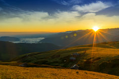 Sunrise on The Gito Plateau. Rize - Turkey Stock Photography