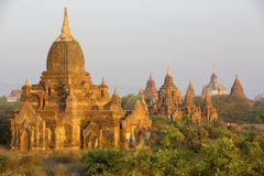 Sunrise glow on the temples of Bagan Stock Photography