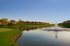 Sunrise of the Golf Course Royalty Free Stock Images