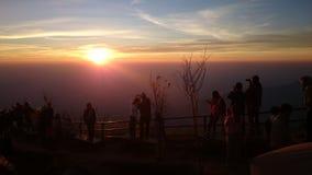 Sunrise. Goodmorning view background mountain royalty free stock photography