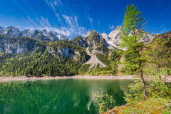 Sunrise at Gosausee lake in Gosau, Alps, Austria, Europe. Sunrise at Gosausee lake in Gosau, Alps, Austria Royalty Free Stock Images