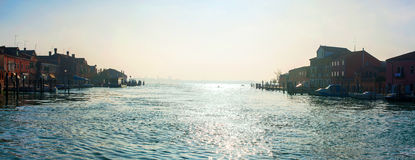 Grand Canal, Murano, Italy. Sunrise Stock Images