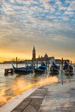Sunrise at the Grand Canal in Venice, Italy Royalty Free Stock Photo