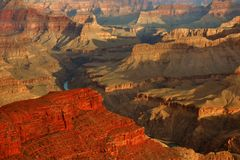 Sunrise In The Grand Canyon Stock Image